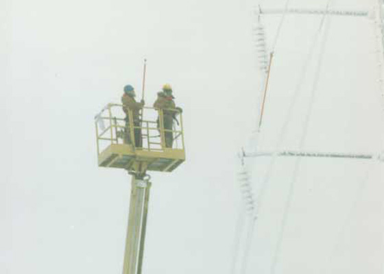Electrical Contractors work on overhead lines